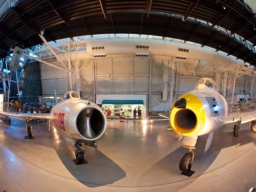 An American F-86 and a Soviet made MIG-15 at the Smithsonian | by donjd2