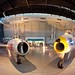 An American F-86 and a Soviet made MIG-15 at the Smithsonian