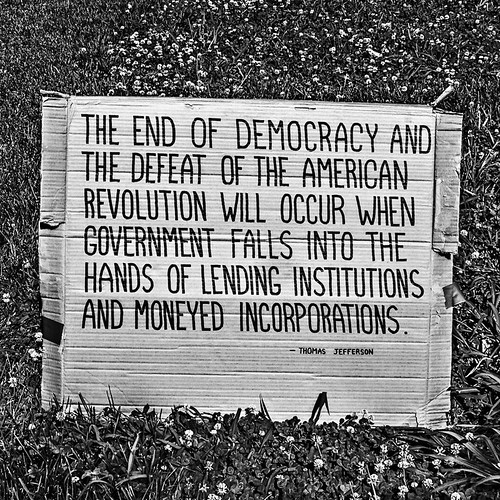 Corporations & The Death Of Democracy, Occupy DC, McPherson Square, Washington, DC | by Gerald L. Campbell