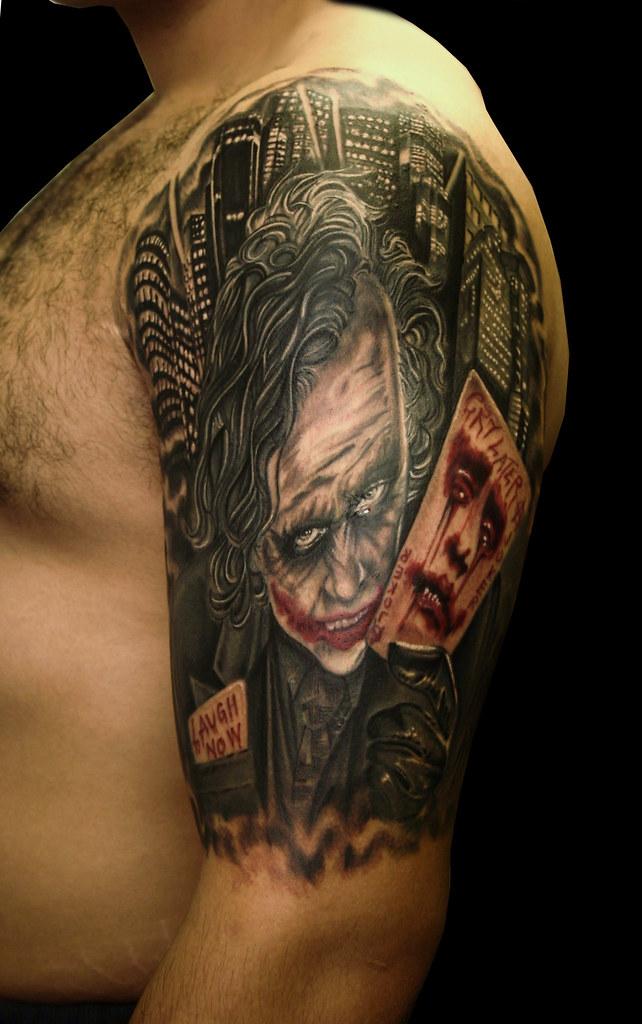 laugh now cry later joker tattoo by steli | transylvania