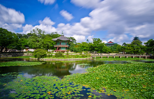 Gyeongbokgung Moving Clouds #1 at Hwangwonjeong 경복궁의 향원정 | by Justin Howard Photography