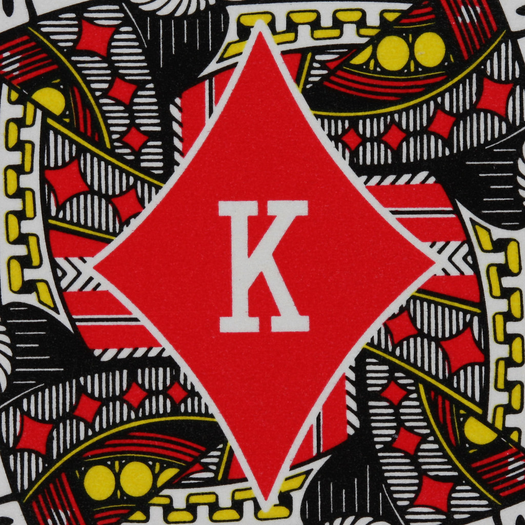 Round Playing Card King of Diamonds | Leo Reynolds | Flickr