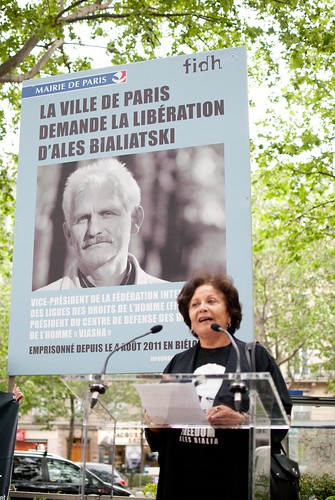 Rassemblement Ales BIALIATSKI-24 | by FIDH - International Federation for Human Rights