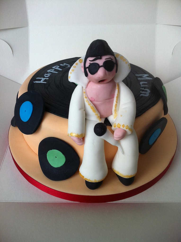 Elvis Presley Birthday Cake The Cake Was Made For One Of Flickr