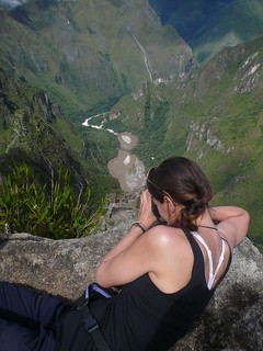Atop Huanya Picchu looking down at Machu Picchu | by is_not_chicago