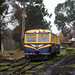 RM22 departs Healesville on a shuttle to Tunnel Hill.