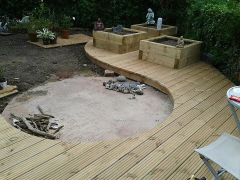 Curved Deck With Circular Patio Base Rory Horton Flickr