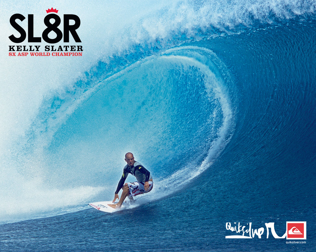 Kelly Slater Quiksilver Surfing Wallpaper 2