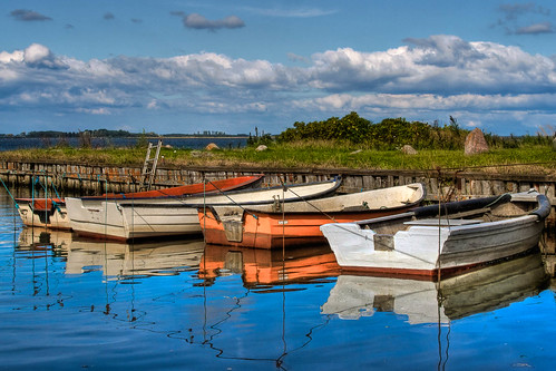 Boats in natural harbor | by lavsen