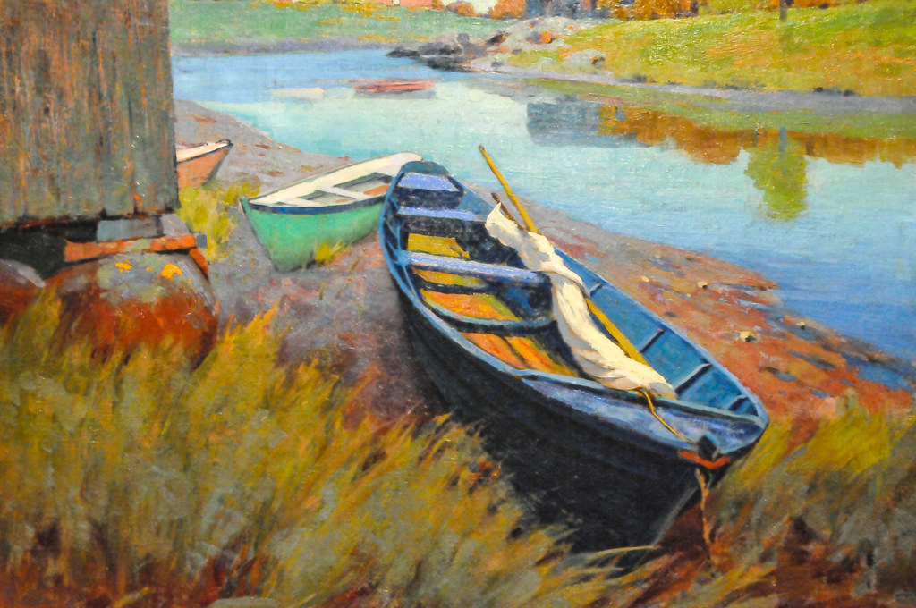 Arthur Wesley Dow Boats At Rest 1895 At Institute Of Ar