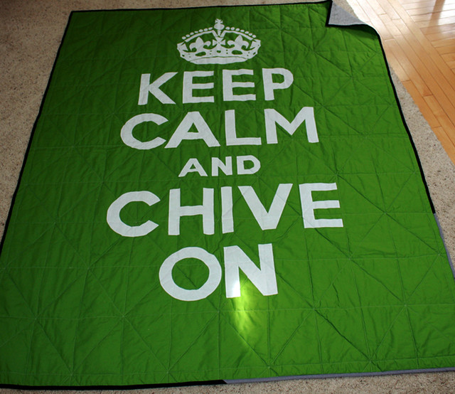 Keep Calm & Chive On Quilt | Flickr - Photo Sharing!