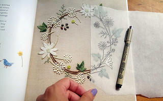 Using tracing paper and a micron pen | by floresita