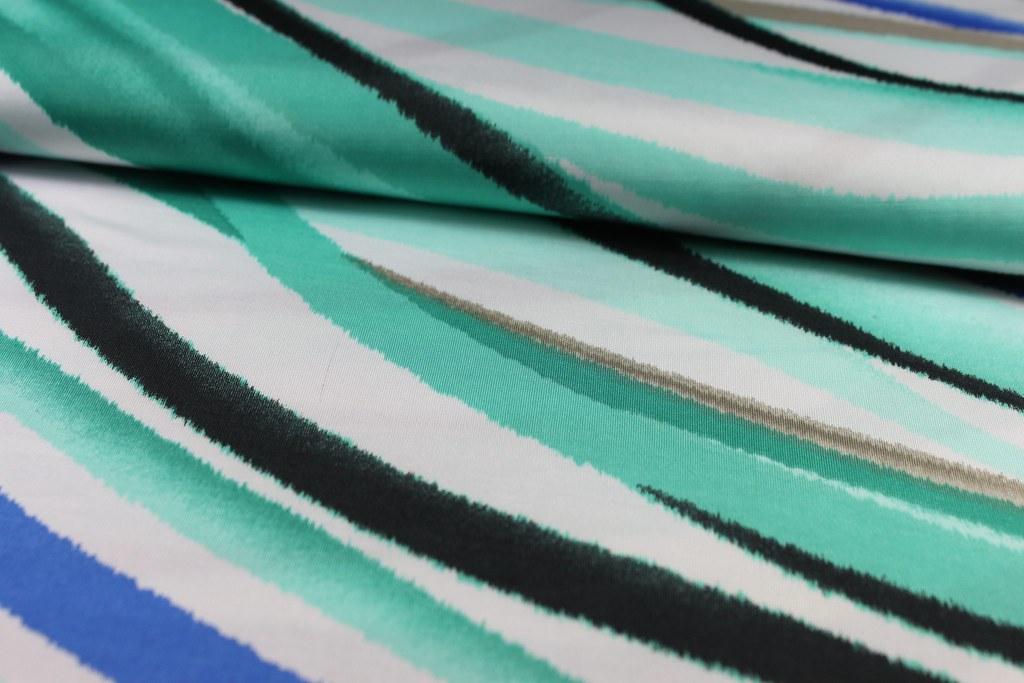 "Feinjersey ""Wellen"", grün-blau (Batik-Stil)"