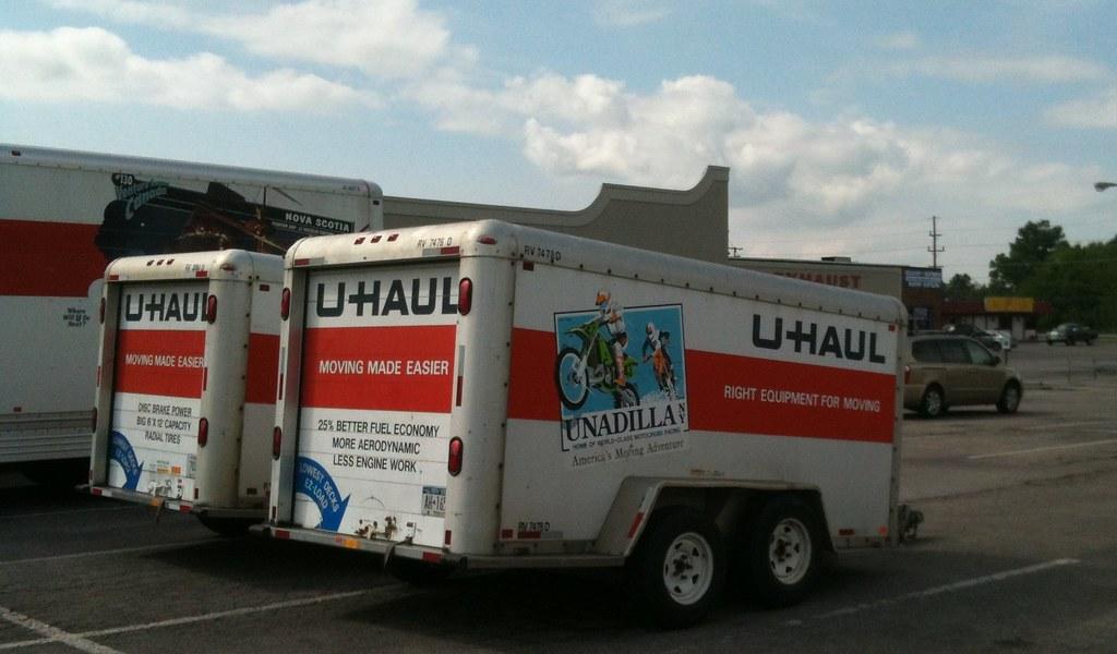 U Haul Trailer New York A Double Axle U Haul Trailer