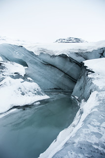 Water, snow and ice at Sólheimajökull glacier | by LimeWave Photo