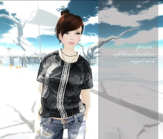 :pesca:soft blouse(mesh) darktone | by tsugu*:pesca: