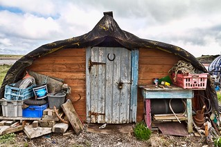 Holy Island work sheds | by keith truman