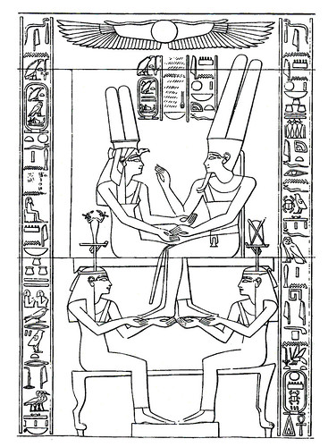 teogamia del nacimiento de amenhotep iii  encuentro amoros
