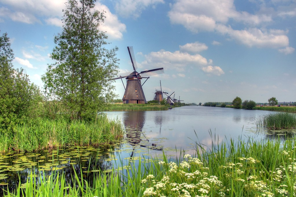 Holland And Holland >> Pastoral Windmills | A view of the windmills of Kinderdijk ...