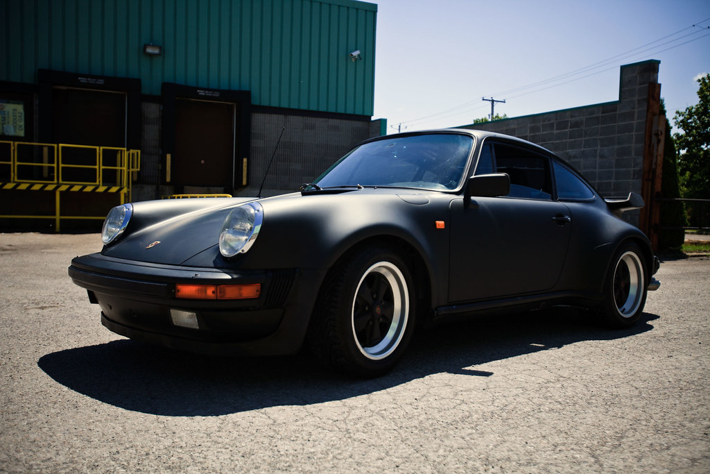 Porsche 911 Wrap Matte Black Porsche 911 Wrap Matte