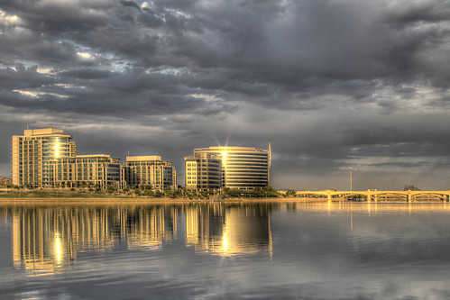Sunrise Reflections on Tempe Town Lake | by Kevin Michael Photo