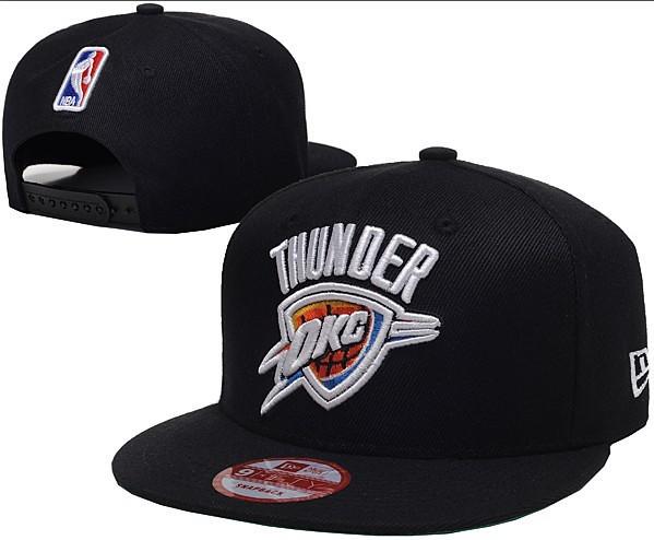 New Era NBA - Black Oklahoma City Thunder Snapbacks Hats C…  b3963ae4d66