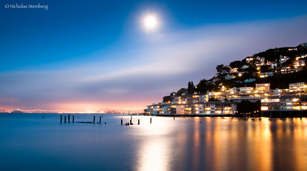 Moonrise over Sausalito Hills, Sausalito, CA | Love it when ...