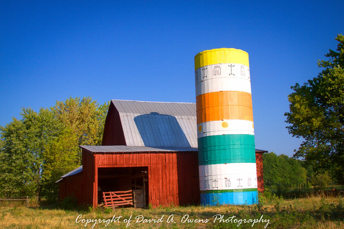 Barn & Silo near Quincy, Indiana | by David A. Owens Photography