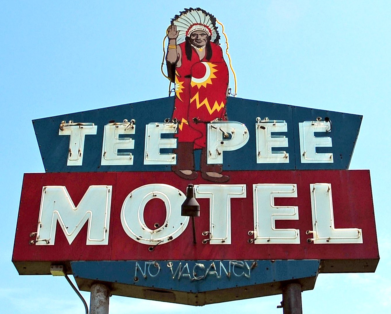 Teepee Motel and RV Park - North Richmond Road, Wharton, Texas U.S.A. - July 21, 2012