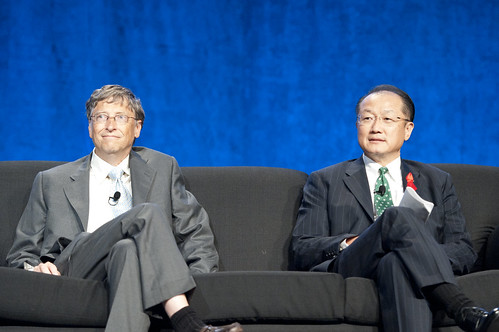 World Bank President Jim Yong Kim and Bill Gates at the International AIDS Conference, Washington DC | by World Bank Photo Collection