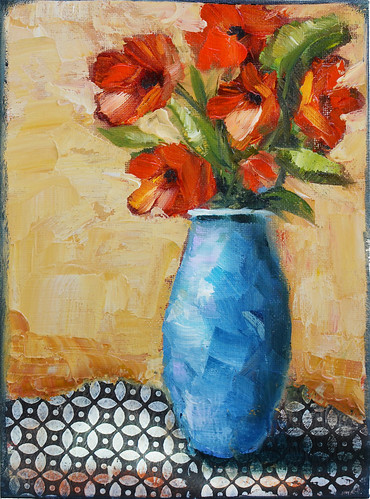 Red Flowers and Blue Vase | by marthalever