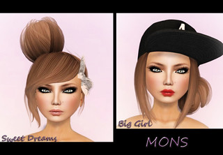 Hair Fair 2012 - MONS - Hair - Sweet Dreams & Big Girl (brown) and :F: Alecia . Tan | by Lila Quander