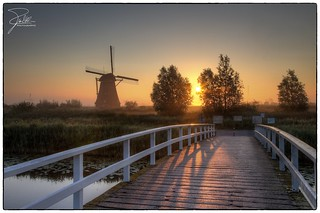 Sunrise in Kinderdijk | by Frank Kehren