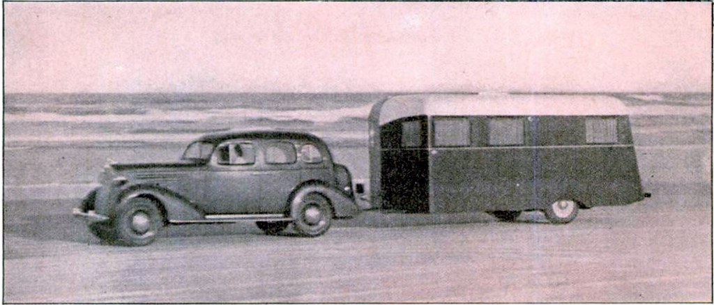 """""""Letting her out"""" over the sands of Datona Beach, Fla., where Sir Malcolm Campbell hung up his world's record."""