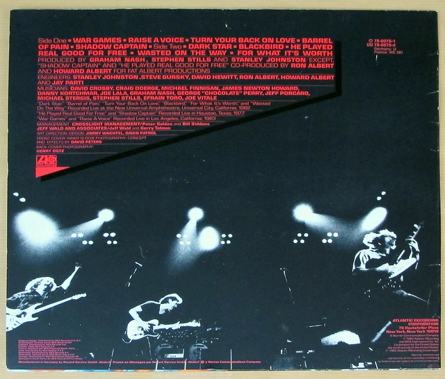 "CROSBY STILLS NASH ALLIES 12"" LP VINYL"