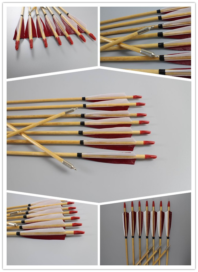 archery wooden arrows