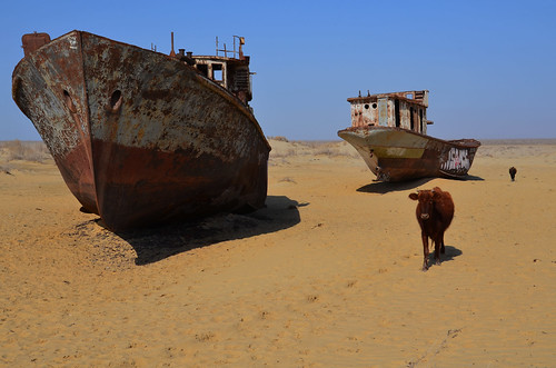 Shipwrecks in Moynaq, once upon a time a fishing town by the Aral Sea | by Carlo Tancredi