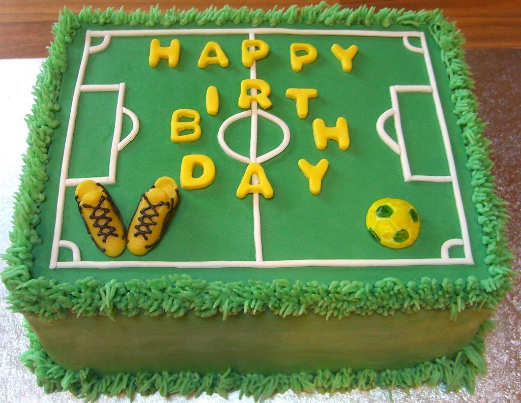 Happy Birthday Football Pitch Cake Happy Birthday Football Flickr