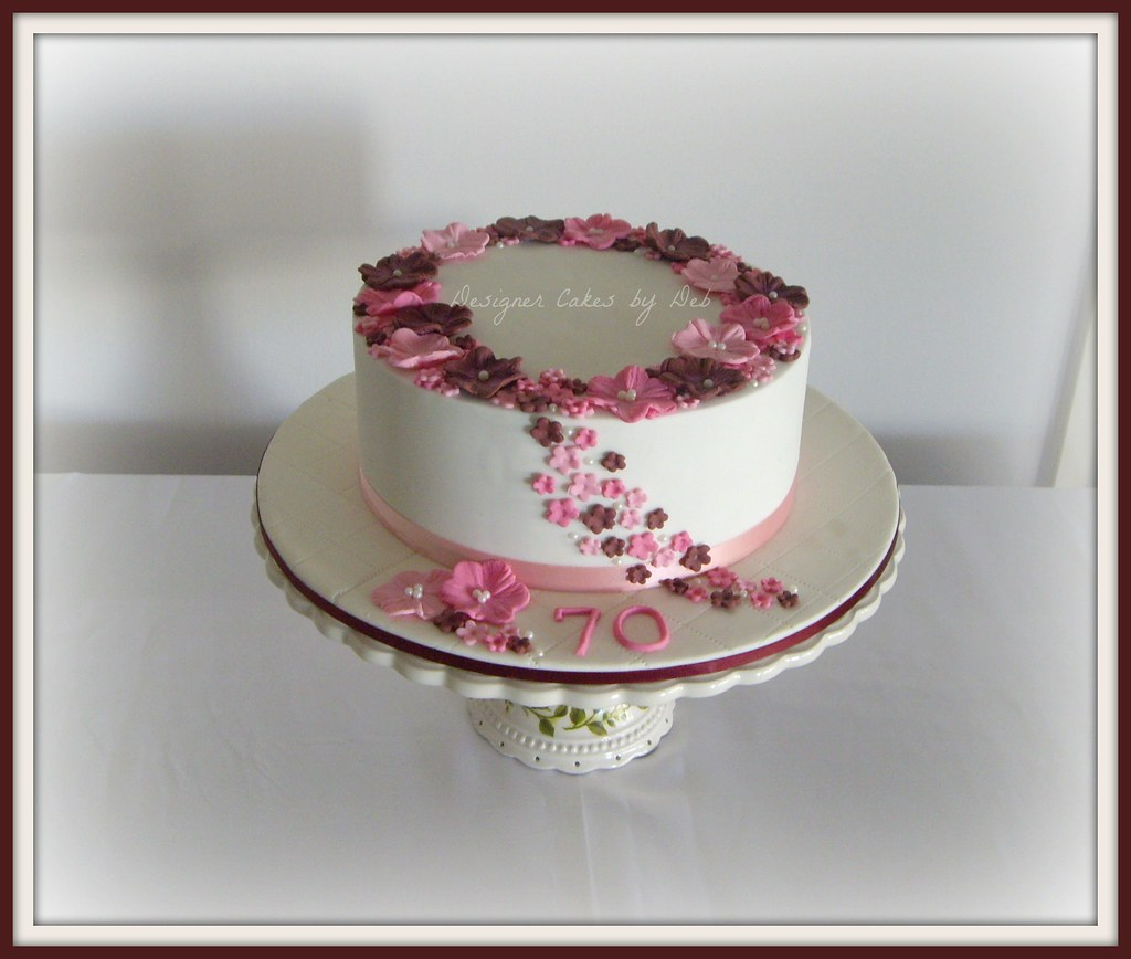 70th Birthday Cake A Colour Variation Of A Cake That I