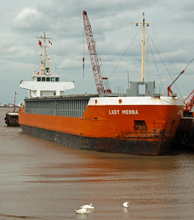 """Lady Menna"" at New Holland Dock 