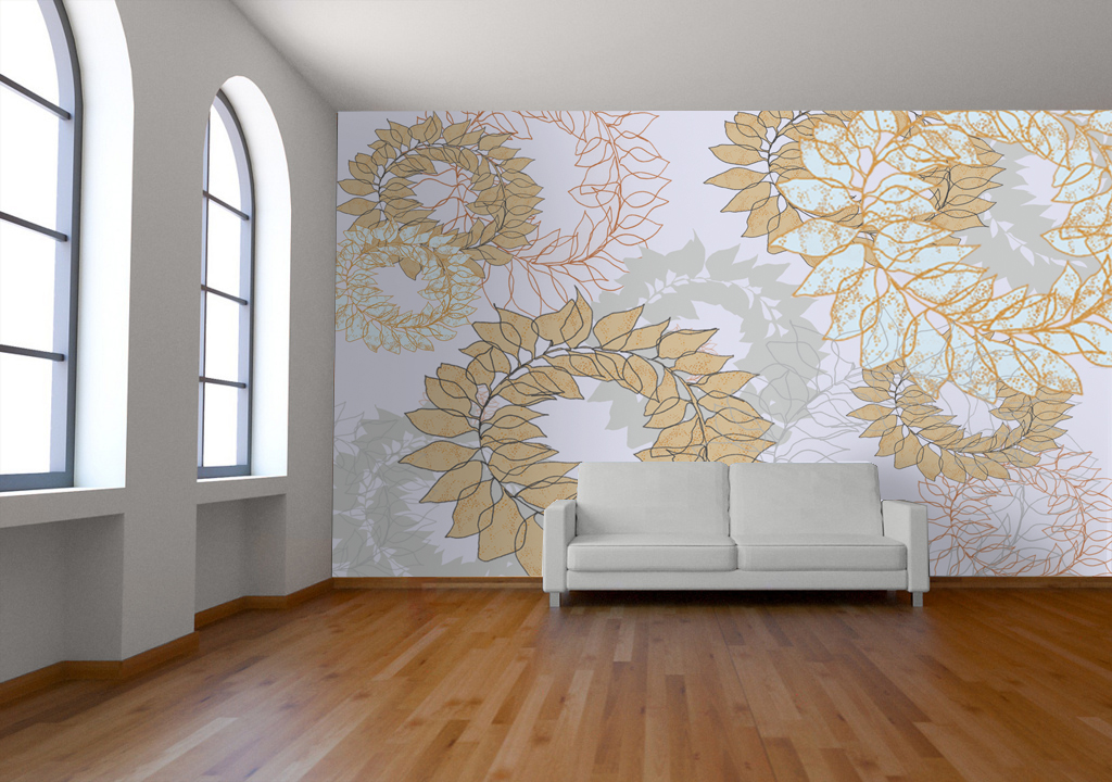 Room Mockup Wallpaper laurel leaf | babyfish2 | Flickr