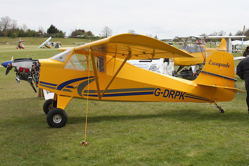 G-DRPK - 2008 registered Reality Aircraft Escapade, displayed at the 2012 Microlight Trade Fair | by egcc