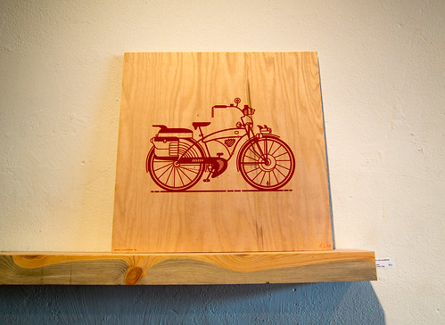 bike art at Press in Dayton | by Scott Beale
