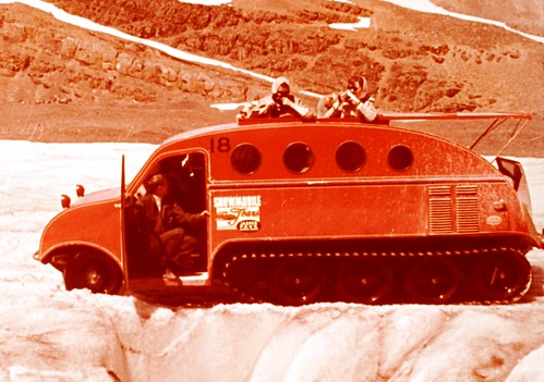 Snow Coach - Columbia Ice Fields - Vintage Commercial Slide - Detail | by Mike Leavenworth