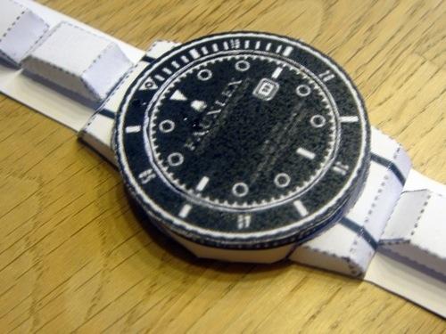 Papier Uhr