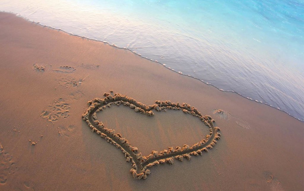 Quotes About Me heart in sand * | Berm...