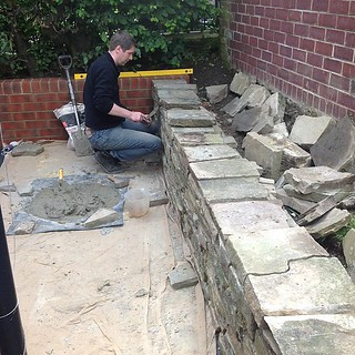 Rory hard at work building his wall. | by nimanoma