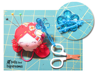 scissors pin cushion | by Dolls And Daydreams