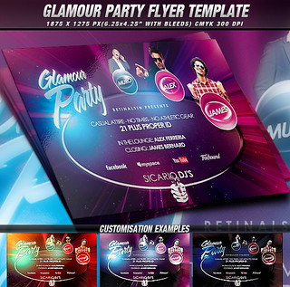 PSD Glamour Party Flyer Template | by mexelina