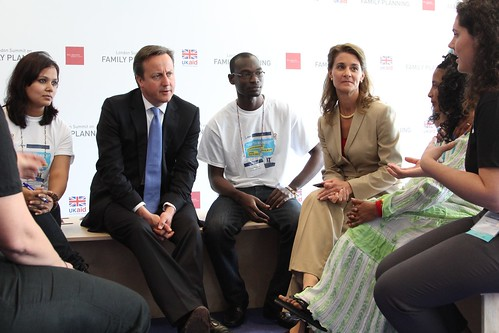 Prime Minister David Cameron and Melinda Gates talk about family planning issues and volunteering with young people at the London Summit on Family Planning | by DFID - UK Department for International Development
